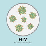 Illustration of HIV virus disease in the trial tray, medical Stock Image