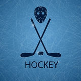 Illustration with hockey accessories Stock Image