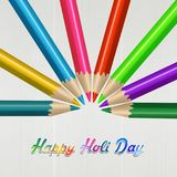 Holi day Festival of colors. Illustration of Holi day Festival of colors with pencils Stock Images