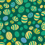 Illustration for the holiday of Easter. Pattern with the image of Easter eggs on a background of cobalt blue color Stock Photography