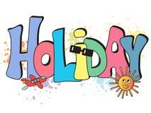 Holiday written background stock illustration
