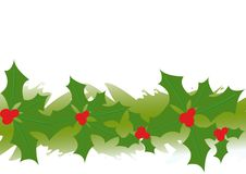 Illustration of holly garland Royalty Free Stock Photography