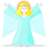 Illustration of holy angel Royalty Free Stock Images