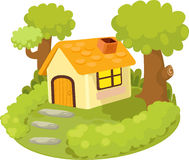 Illustration home. On white background Royalty Free Stock Images