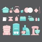 Illustration of home appliances. Stock Image