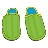 Illustration of home slippers Stock Photo