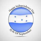 Illustration of Honduras Independence Day background Royalty Free Stock Photography