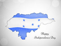 Illustration of Honduras Independence Day background Royalty Free Stock Photos