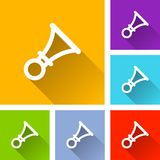 Horn icons with long shadow. Illustration of horn icons with long shadow Stock Image