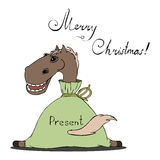 Illustration of a horse for Christmas Stock Photo