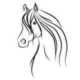 Illustration of the horse. Wild. It can be used in print or tattoo Royalty Free Stock Photos