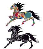 Illustration of horses Royalty Free Stock Photo