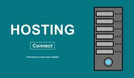 Concept of hosting vector illustration