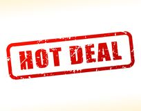 Hot deal text buffered. Illustration of hot deal text buffered on white background Royalty Free Stock Photo
