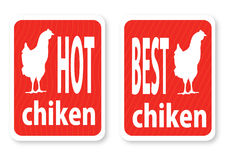 Illustration of a hot hen with the text Stock Photos