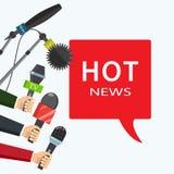Illustration. Hot news, mass media concept. Hot news, mass media concept. illustration royalty free illustration