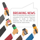 Illustration hot news. Stock Photography