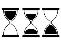 Illustration of hourglass royalty free illustration