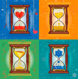 Illustration with hourglass Stock Image