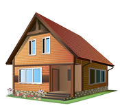 Illustration of house Stock Photos