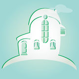 Illustration of house  Can be used as icon of home Royalty Free Stock Photos