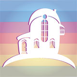 Illustration of house on colour background. Can be used as icon home. Silhouette Stock Photos