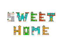 Illustration house letter alphabet Stock Photos