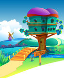 Illustration house & sale Stock Photos