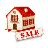 Illustration of a house for sale Stock Images