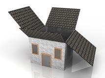 Illustration of a house shaped box Stock Image