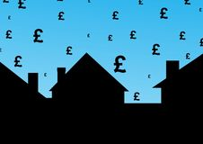 Housing cost in pounds Royalty Free Stock Image