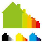 Illustration of Housing energy efficiency Royalty Free Stock Image