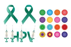 HPV element set stock image