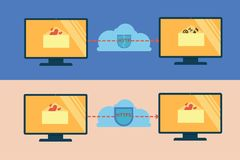 Illustration of http and https security Royalty Free Stock Image