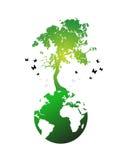 Illustration of huge tree Royalty Free Stock Photo