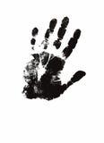Illustration humaine d'impression de main Images libres de droits