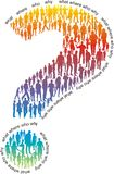 Question mark of colorful people Royalty Free Stock Photos