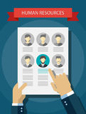 Illustration of human resources abstract Royalty Free Stock Images