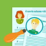 Illustration of human resources, the choice of candidate for the job, curriculum vitae stack Stock Photos