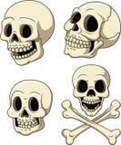 Human skull collection set isolated on white background stock illustration