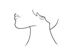 Illustration of human throat. Or half face with chin, neck and lips Royalty Free Stock Photos