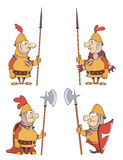 Illustration of humor cartoon knights  set Stock Photos