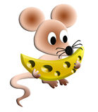 The Illustration hungry mouse Stock Photo