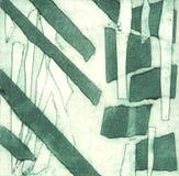 Illustration i lättnad som skrivar ut den klassiska tekniken som göras med hjälp av kanalbandet stock illustrationer