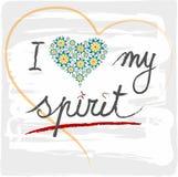 Illustration I love my spirit Royalty Free Stock Image