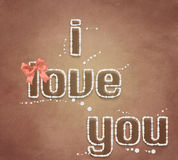 Illustration I love you. Royalty Free Stock Photos