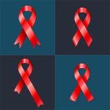 Illustration i realismstil för dina designidéer HIV HJÄLPMEDEL Bandsamling Fotografering för Bildbyråer
