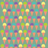 Illustration Ice cream. Colorful patternrn Stock Images