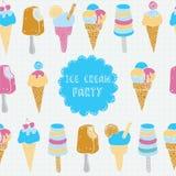 illustration of ice cream. Royalty Free Stock Photos