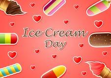 Ice cream day background vector illustration